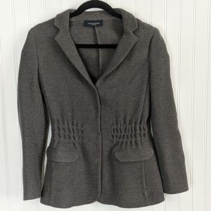 Piazza Sempione Gray Wool Camel Silk Cardigan 4